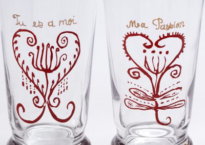 Williams Sonoma Valentines Glassware